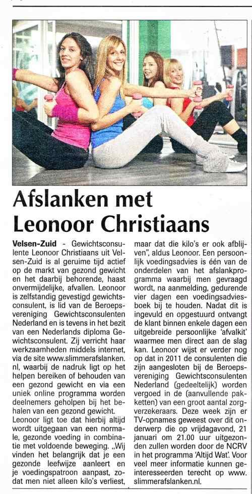Slimmerafslanken.nl in de Hofgeest